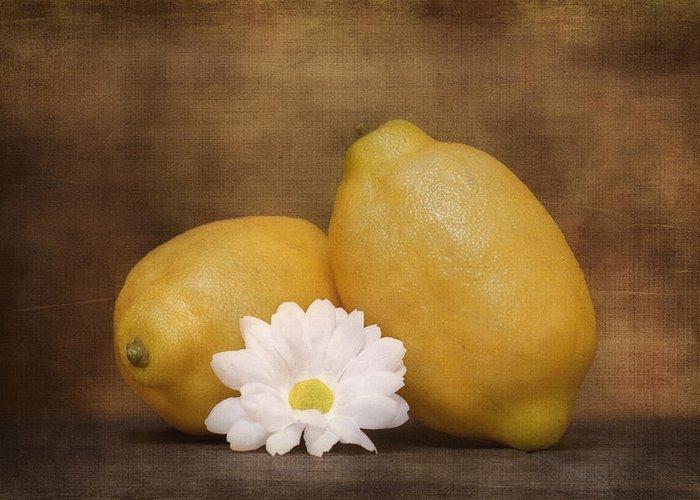 Art Greeting Card featuring the photograph Lemon Fresh Still Life by Tom Mc Nemar