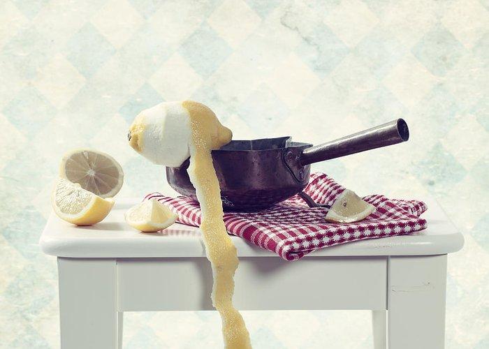 Lemon Greeting Card featuring the photograph Lemon by Joana Kruse
