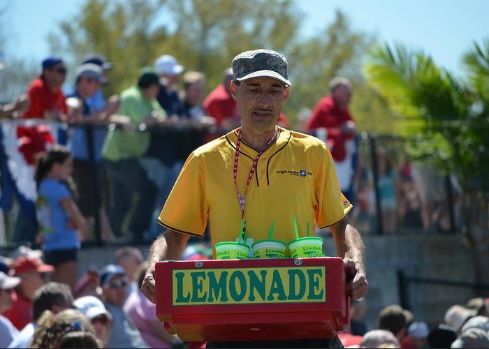 Phillies Greeting Card featuring the photograph Lemonade Vendor by Steven Blivess