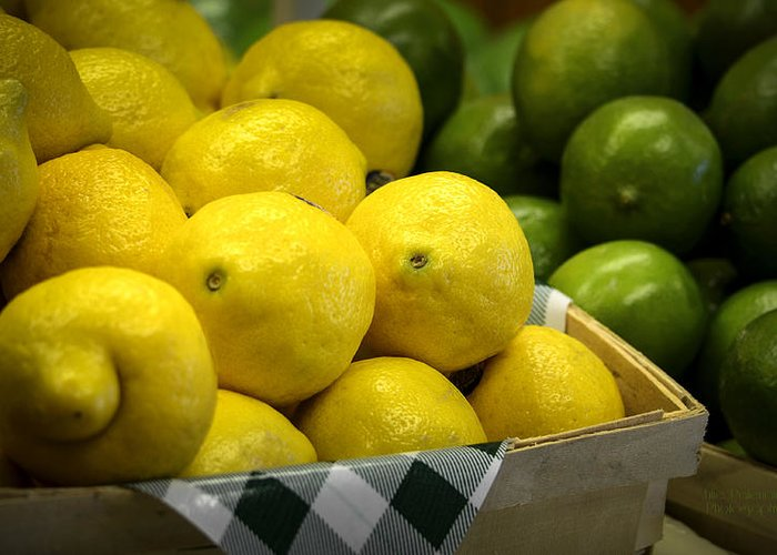 Lemons And Limes Greeting Card featuring the photograph Lemons And Limes by Julie Palencia