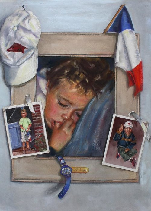 France Greeting Card featuring the painting Leo by Vicki Ross
