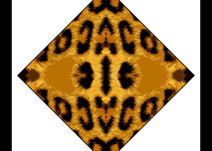 Leopard Greeting Card featuring the digital art Leopard Skin by Roberto Alamino
