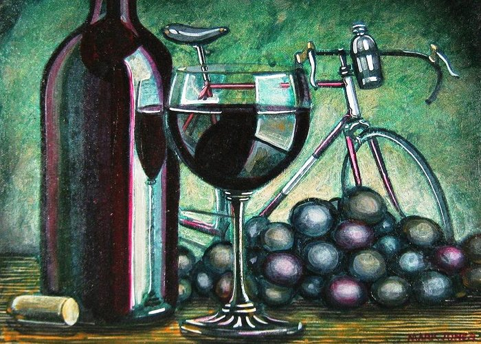 Still Life Greeting Card featuring the painting L'eroica Still Life by Mark Jones
