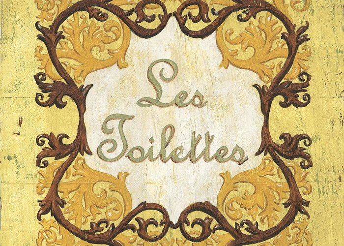 Les Toilettes Greeting Card featuring the painting Les Toilettes by Debbie DeWitt