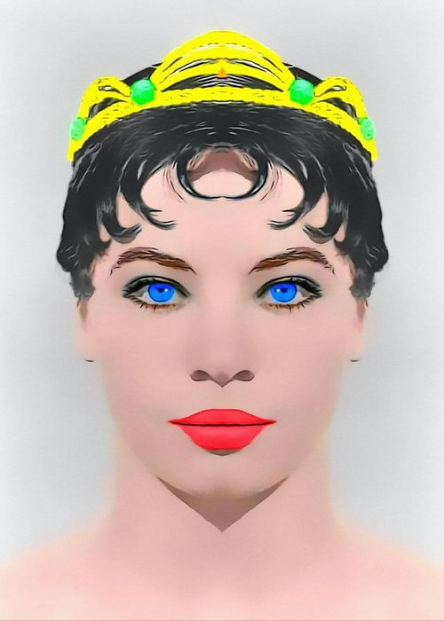 Actress Greeting Card featuring the photograph Leslie Caron Alias In The Glass Slipper by Art Cinema Gallery
