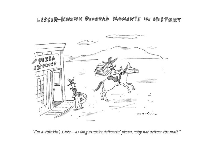 Lesser known pivotal moments in history two greeting card for history greeting card featuring the drawing lesser known pivotal moments in history two by m4hsunfo
