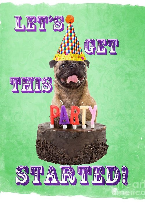 Party Greeting Card featuring the photograph Let's Get This Party Started by Edward Fielding