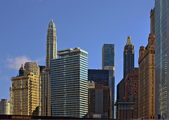 Chicago Greeting Card featuring the photograph Let's Talk Chicago by Christine Till