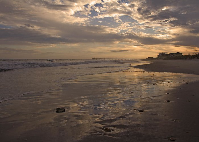 Topsail Greeting Card featuring the photograph Let's Walk This Evening by Betsy Knapp