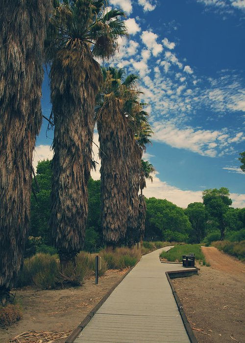 Big Morongo Canyon Preserve Greeting Card featuring the photograph Let's Walk This Path Together by Laurie Search