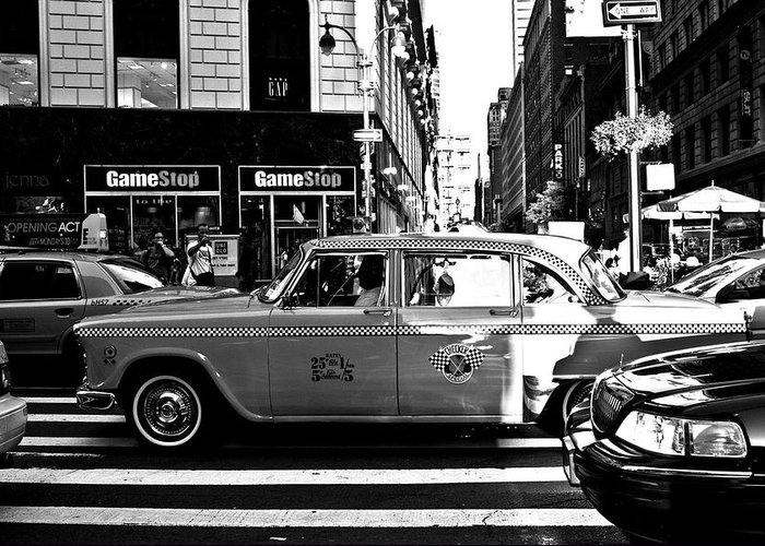 Black And White Greeting Card featuring the photograph Lexington Avenue by Kathleen Odenthal