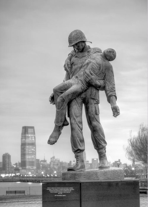 Liberation Memorial Greeting Card featuring the photograph Liberation by JC Findley