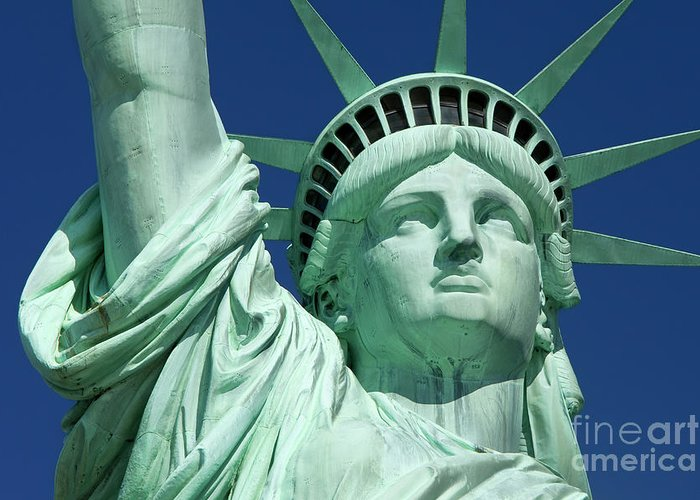 Statue Greeting Card featuring the photograph Liberty by Brian Jannsen