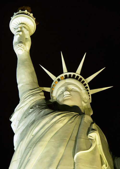 Statue Of Liberty Greeting Card featuring the photograph Liberty by Debby Richards