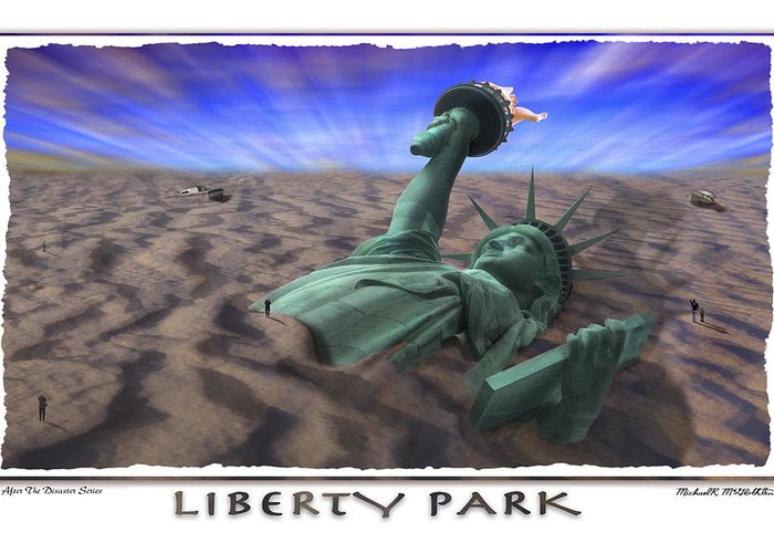 Pop Art Greeting Card featuring the photograph Liberty Park by Mike McGlothlen
