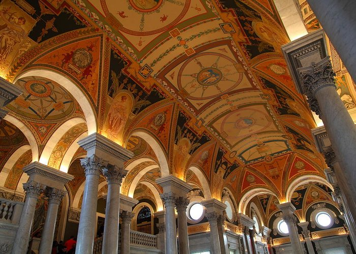 Washington Greeting Card featuring the photograph Library Of Congress - Washington Dc - 011317 by DC Photographer