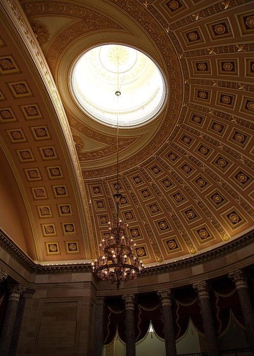Washington Greeting Card featuring the photograph Library Of Congress - Washington Dc - 01133 by DC Photographer