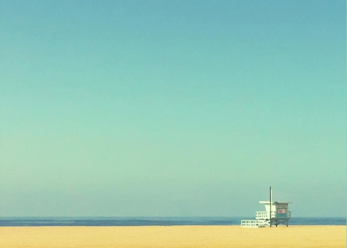 Tranquility Greeting Card featuring the photograph Life Guard Tower by Denise Taylor