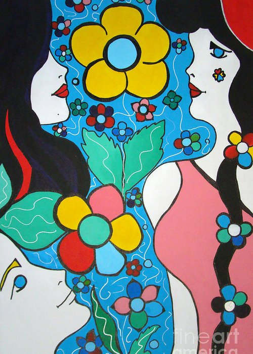 Pop-art Greeting Card featuring the painting Life Is Beautiful by Silvana Abel