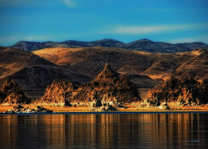 Pyramid Lake Greeting Card featuring the photograph Life On Mars by Donna Blackhall