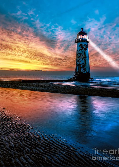 Lighthouse Digital Art Greeting Cards