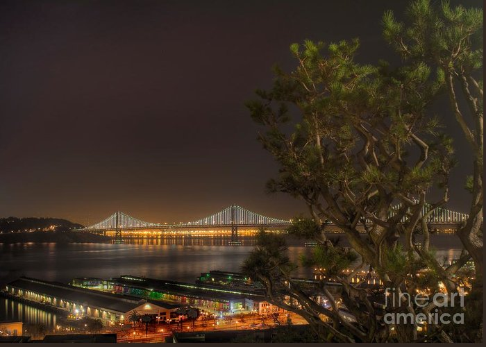 Bridge Greeting Card featuring the photograph Light In The Darkness by Jordan Conner