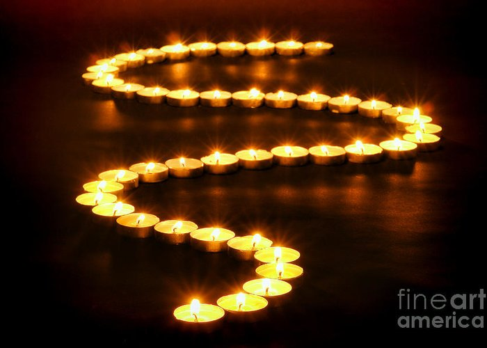 Candles Greeting Card featuring the photograph Light Path by Olivier Le Queinec