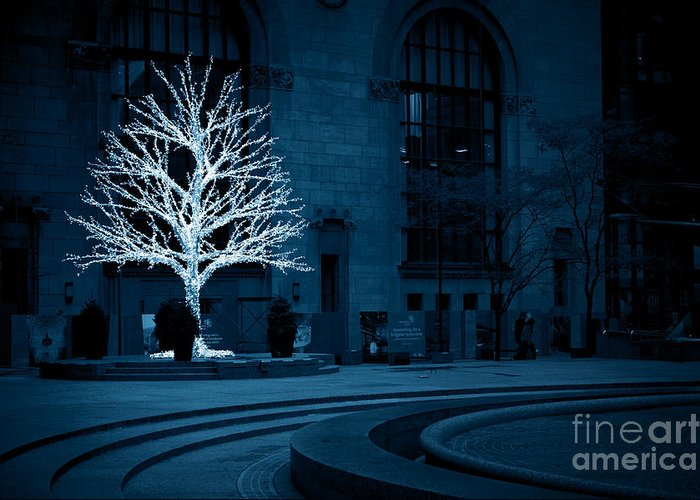 Landscape Greeting Card featuring the photograph Light Snow by Christine Hess