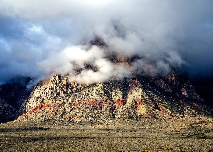 Mountains Greeting Card featuring the photograph Light Storm by Darcy Grizzle