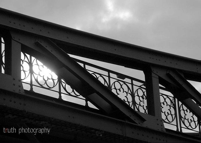Bridge Greeting Card featuring the photograph Light Streams by Ruth Tillman