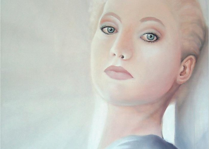 Beautiful Greeting Card featuring the painting Light by - Artificium -