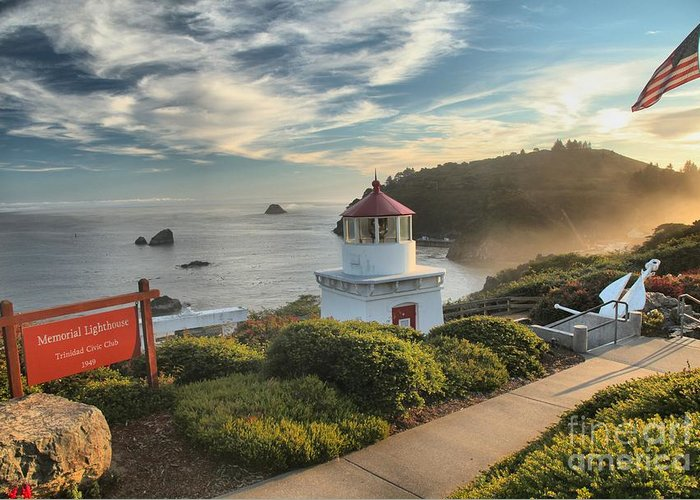 Trinidad Beach Greeting Card featuring the photograph Lighthouse Walk by Adam Jewell