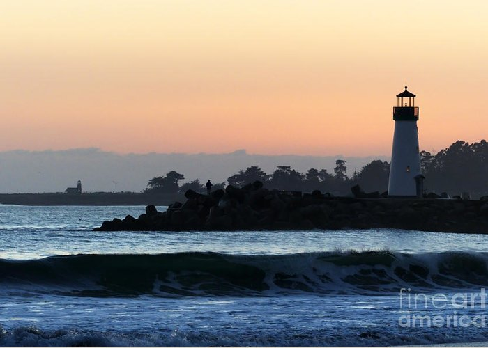 Lighthouse Greeting Card featuring the photograph Lighthouses Of Santa Cruz by Paul Topp