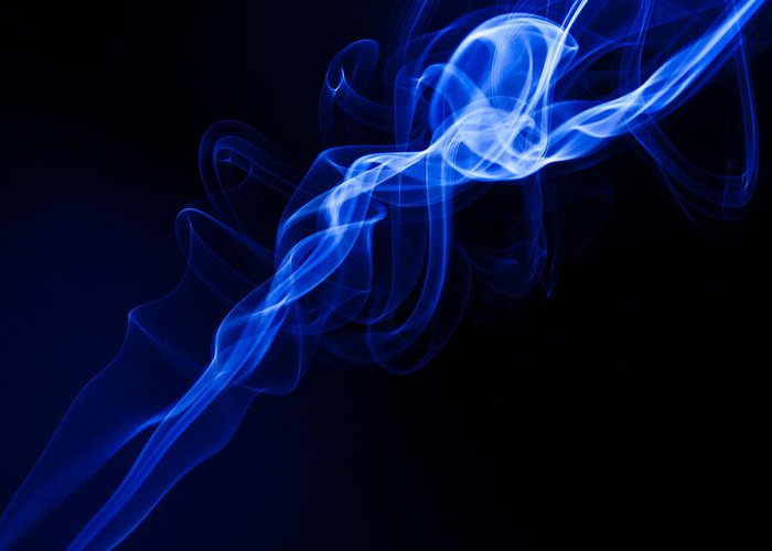 Smoke Photographs Greeting Card featuring the photograph Lighting In Swirls by Peter Harris