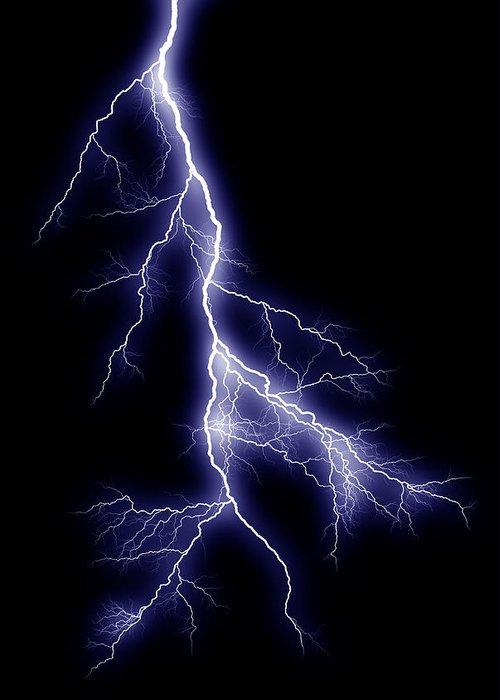 Lightning Greeting Card featuring the photograph Lightning Bolt by Joe Belanger