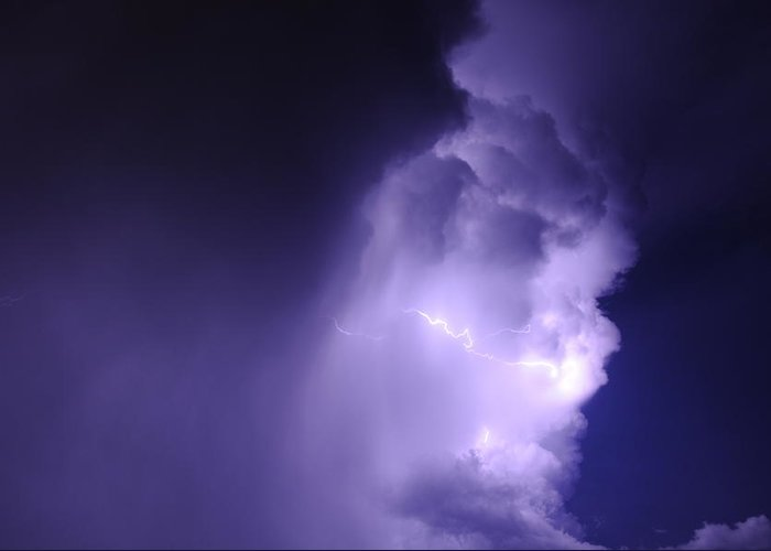 Blue Greeting Card featuring the photograph Lightning Storm by Rtm Fiveeightsix