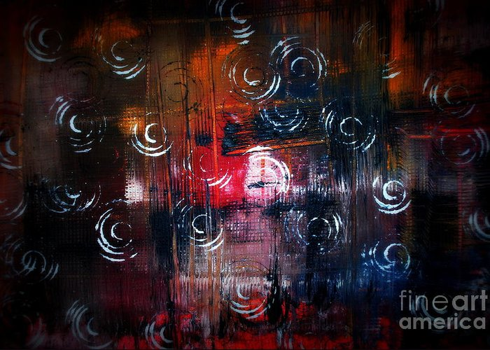 Abstract Greeting Card featuring the painting Liiodin by Alex Blaha