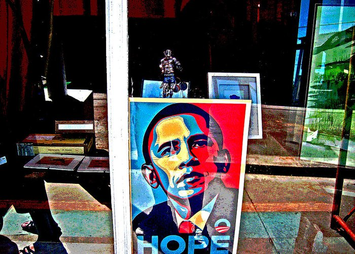 Like Ike Greeting Card featuring the photograph Like Ike Like Obama by Joseph Coulombe