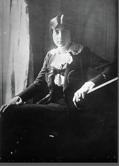 1918 Greeting Card featuring the photograph Lili Boulanger (1893-1918) by Granger