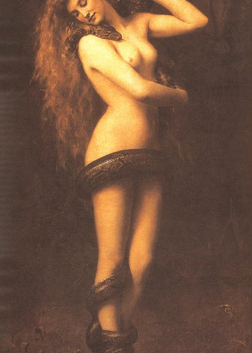 John Collier Greeting Card featuring the digital art Lilth by John Collier