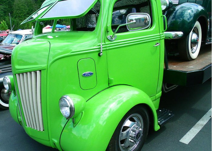 Lime Ford 1947 Coe Truck Greeting Card For Sale By Kym Backland