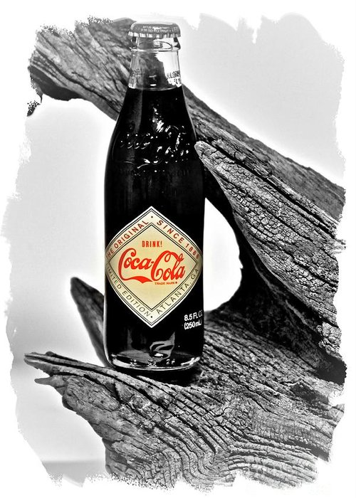 Limited Edition Bottles Greeting Card featuring the photograph Limited Edition Coke - No.15 by Joe Finney