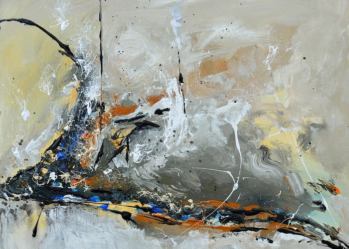 Limitless Greeting Card featuring the painting Limitless 1 - Abstract Painting by Ismeta Gruenwald