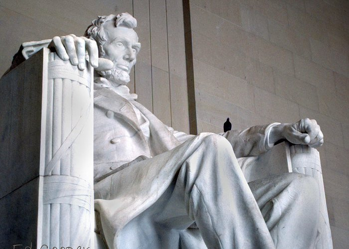 Lincoln Greeting Card featuring the photograph Lincoln Memorial by Ed Cooper