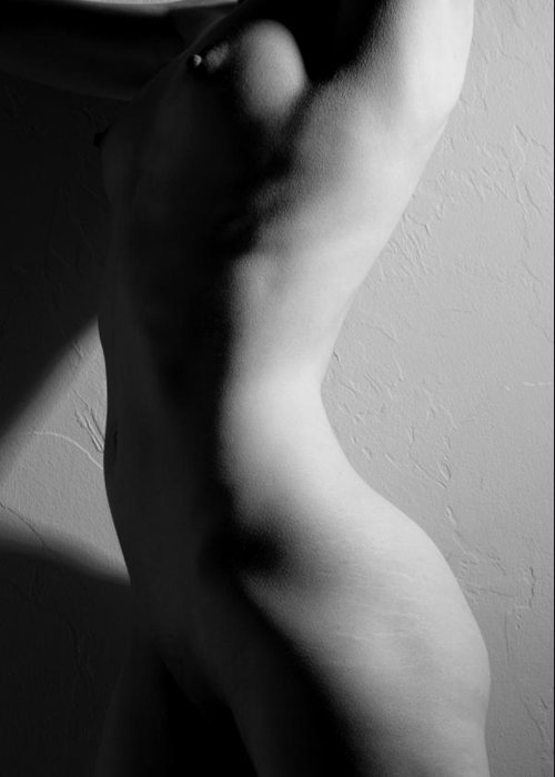 Nude Greeting Card featuring the photograph Line And Form by Joe Kozlowski