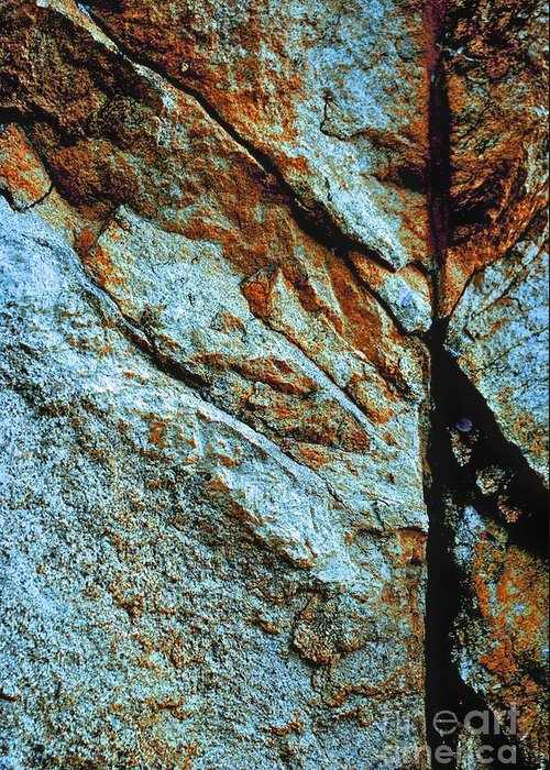 Background Greeting Card featuring the photograph Line In The Rock by Cate