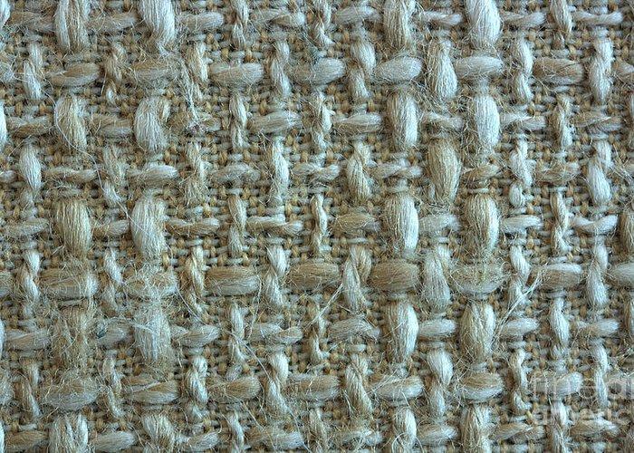 Linen Fabric Texture Greeting Card featuring the photograph Linen Fabric Texture by Jolanta Meskauskiene