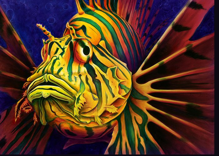 Lionfish Greeting Cards