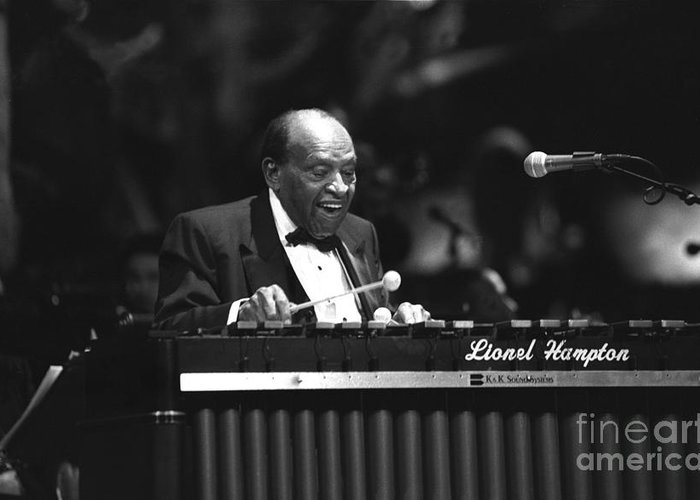 Jazz Vibraphonist Greeting Card featuring the photograph Lionel Hampton by Concert Photos