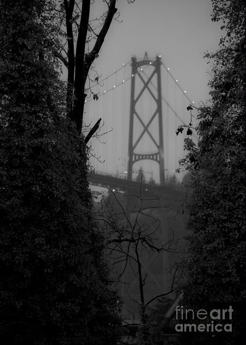 Lions Greeting Card featuring the photograph Lions Gate Bridge by Nancy Harrison